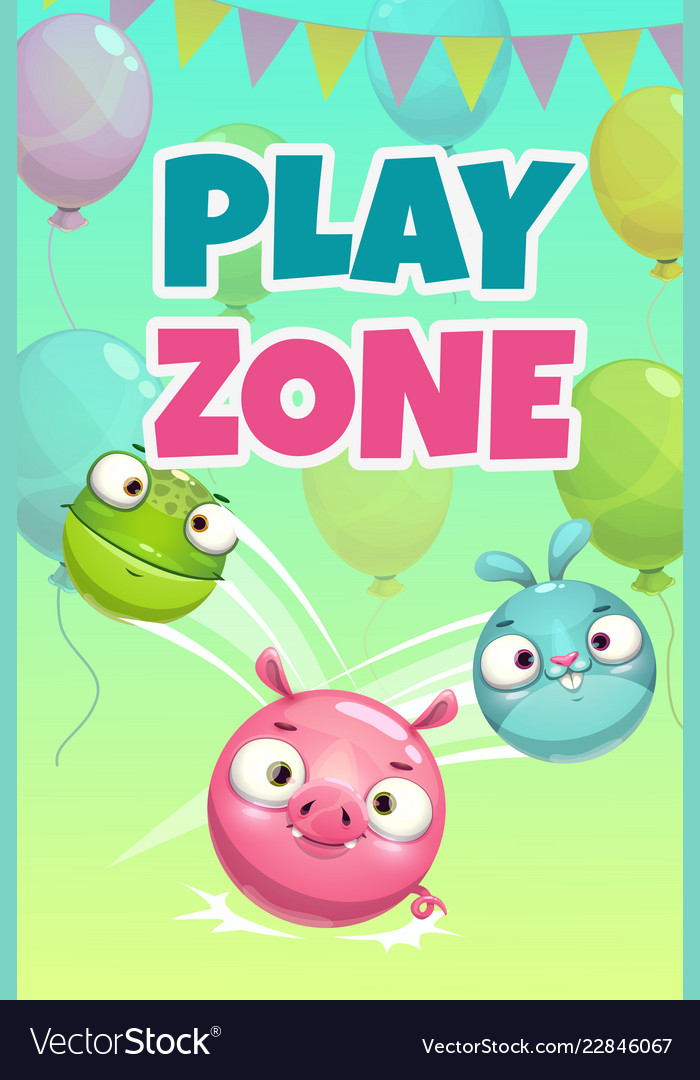 Kids zone banner concept play zone