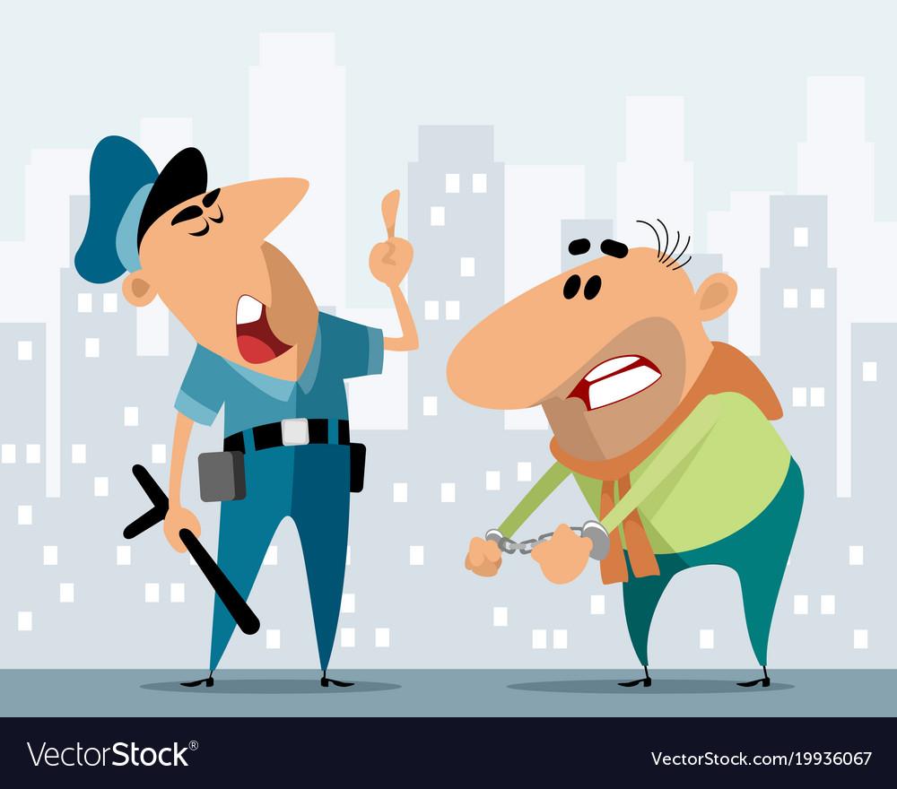 Police officer and criminal