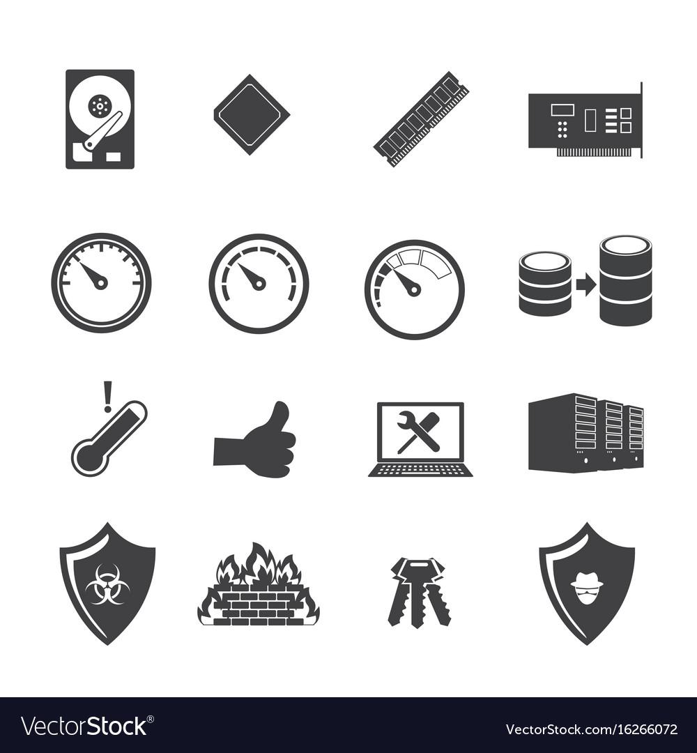 Big data icon set system infrastructure