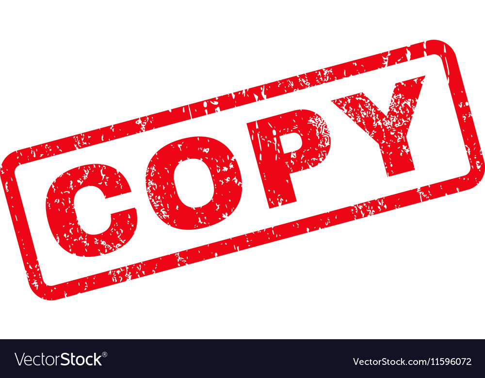 Copy Text Rubber Stamp Vector Image