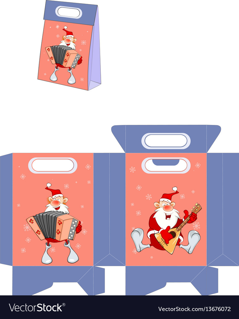 Cute santa claus handbags packages pattern