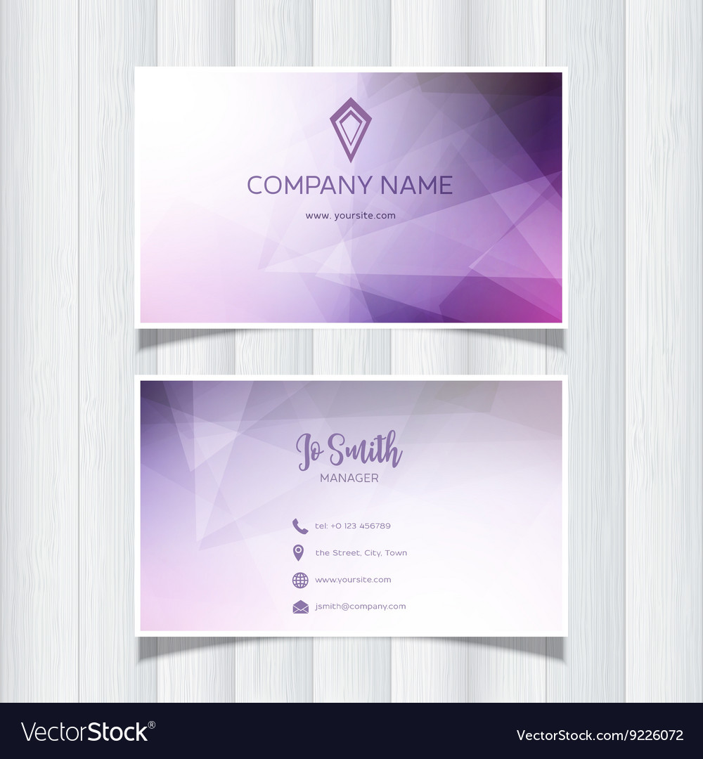 Geometric business card design 0505 royalty free vector geometric business card design 0505 vector image colourmoves
