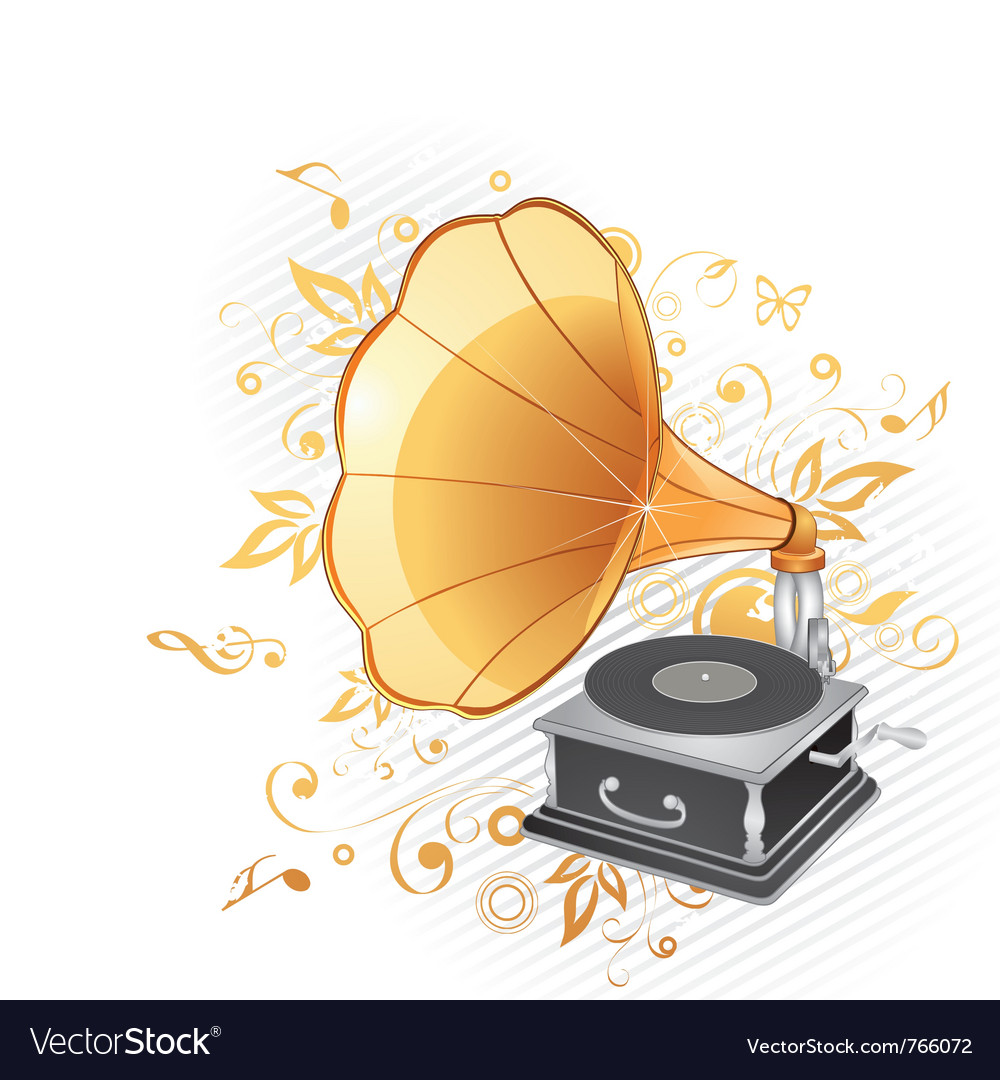 gramophone royalty free vector image vectorstock vectorstock
