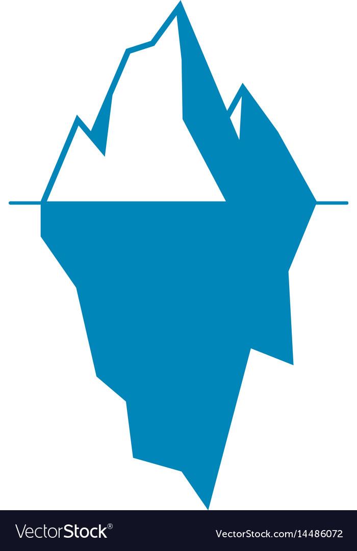 Iceberg Icon Isolated On White Background Vector Image
