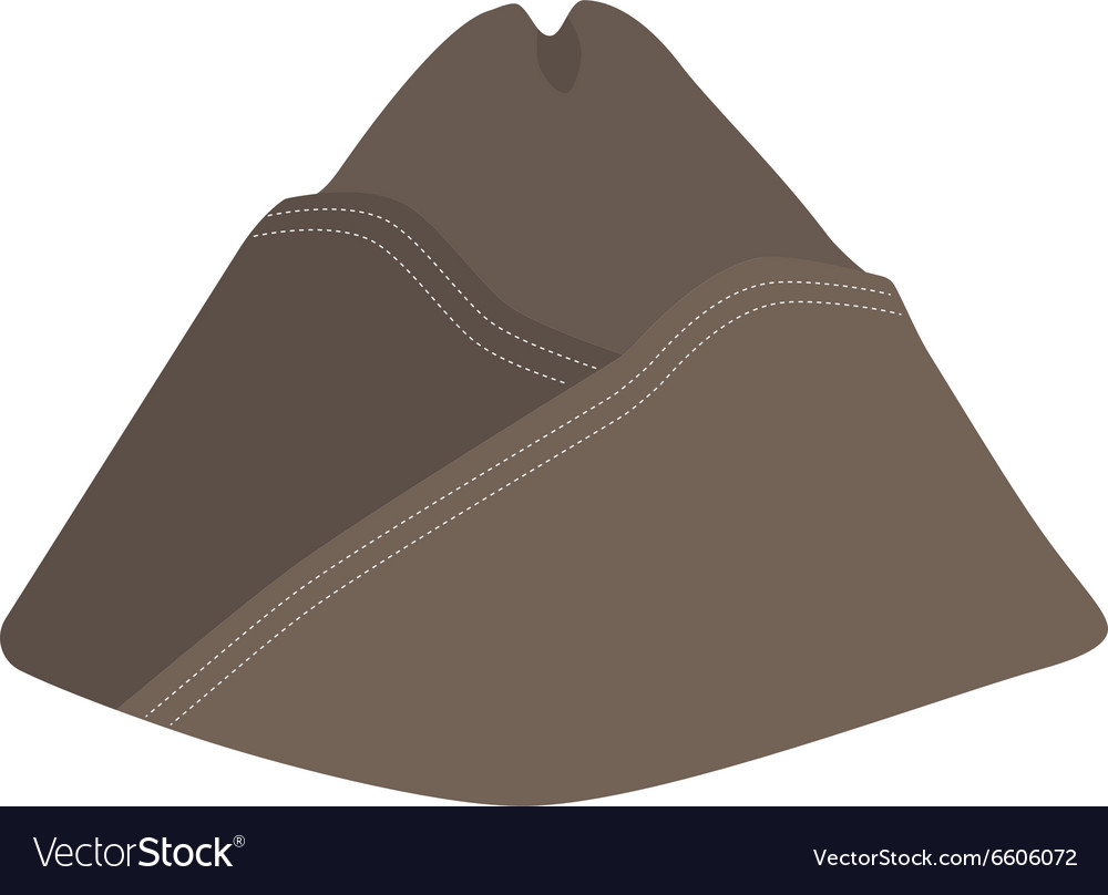 Military forage cap vector image