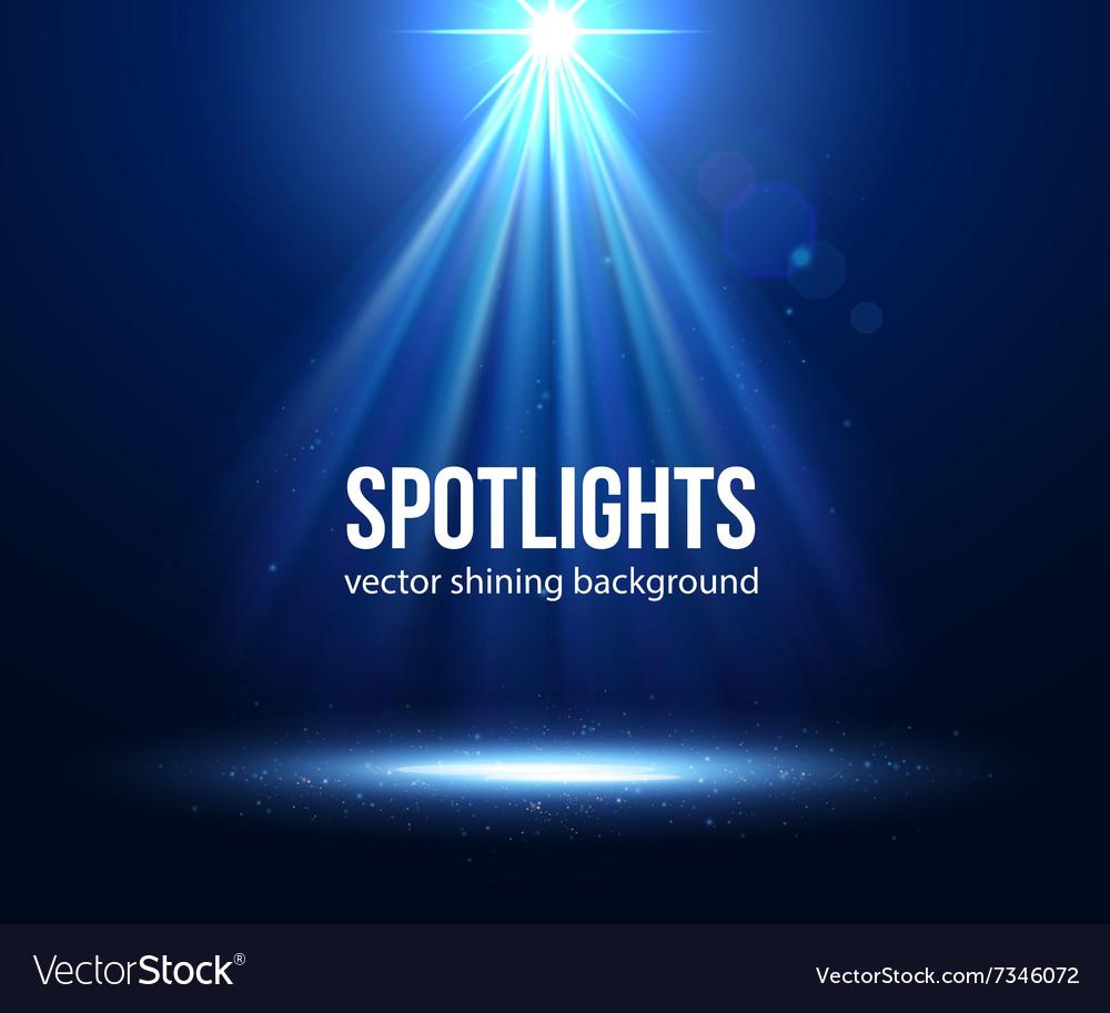 Scene illuminated spotlight Dark spotlight