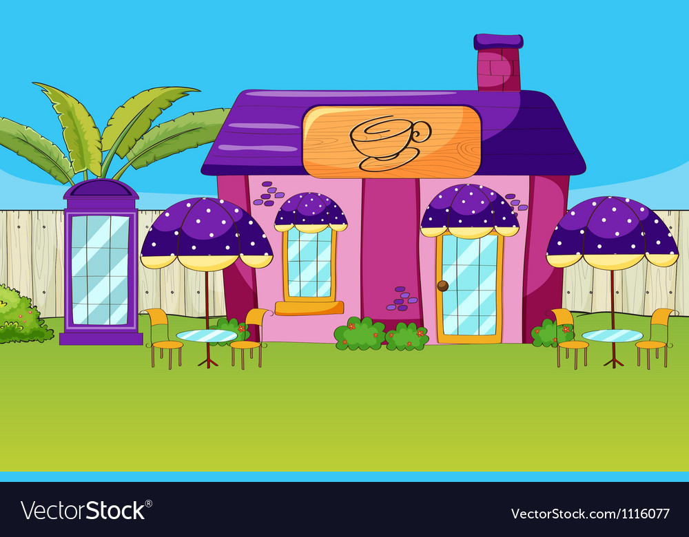 A coffee house vector image