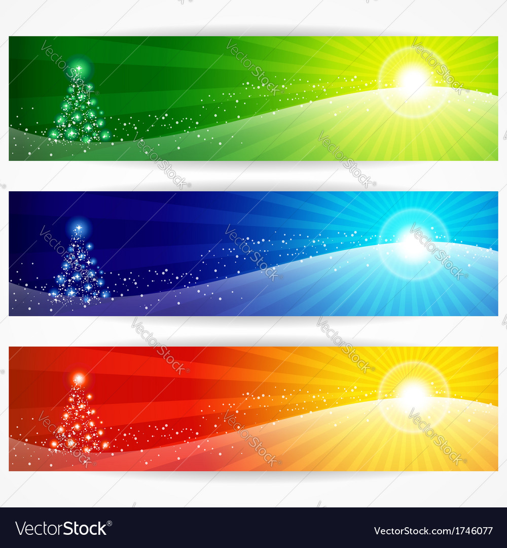 Abstract christmas banners for your design header
