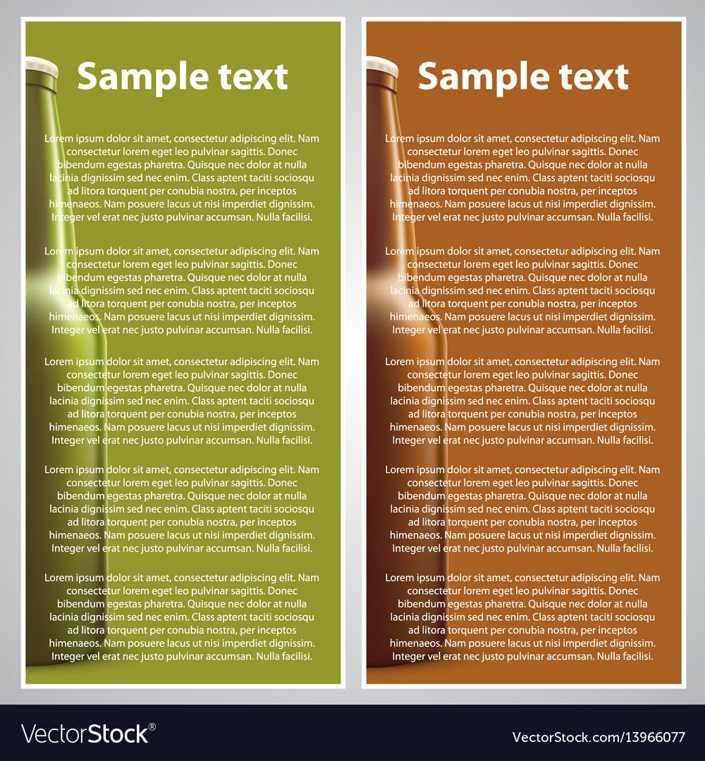 Beer flyer vector image