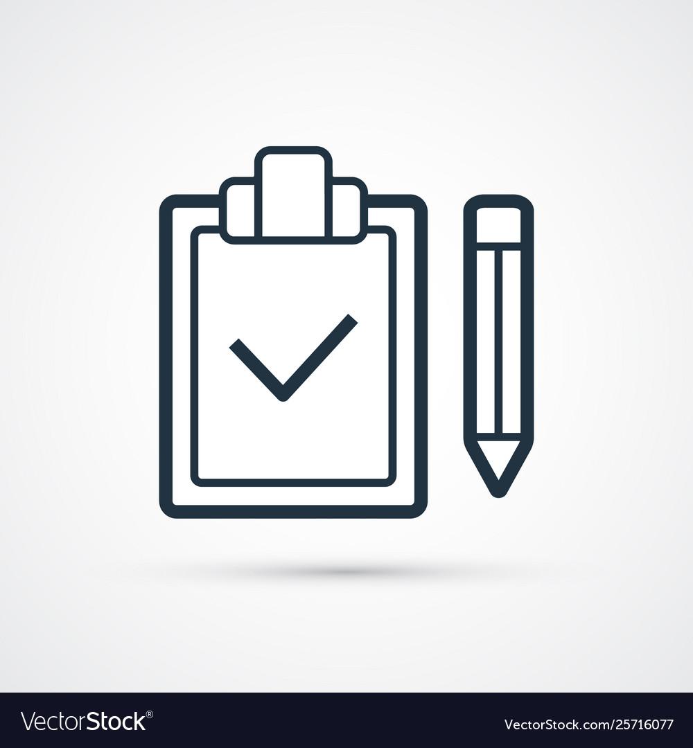 Check list trendy modern symbol trendy