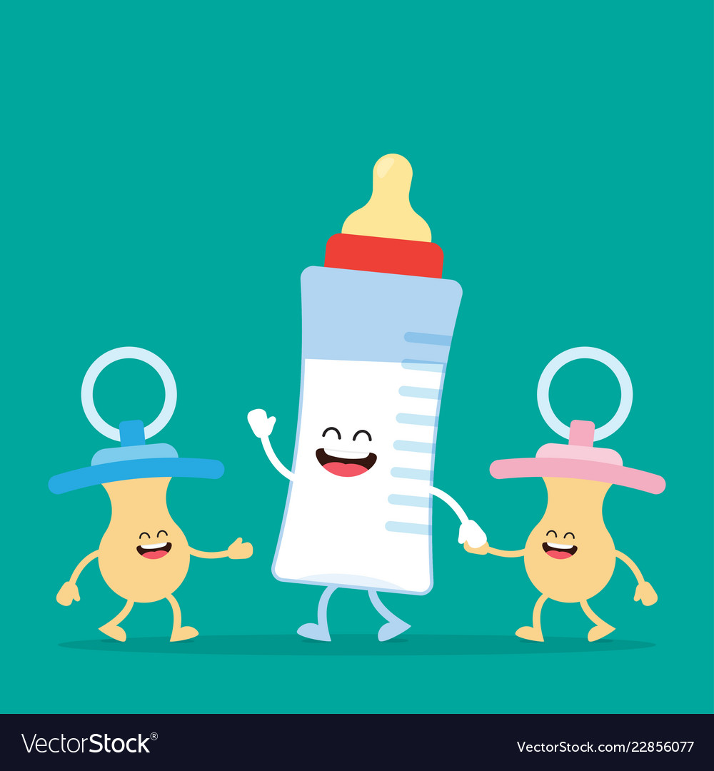 Funny baby milk bottle and baby nipple