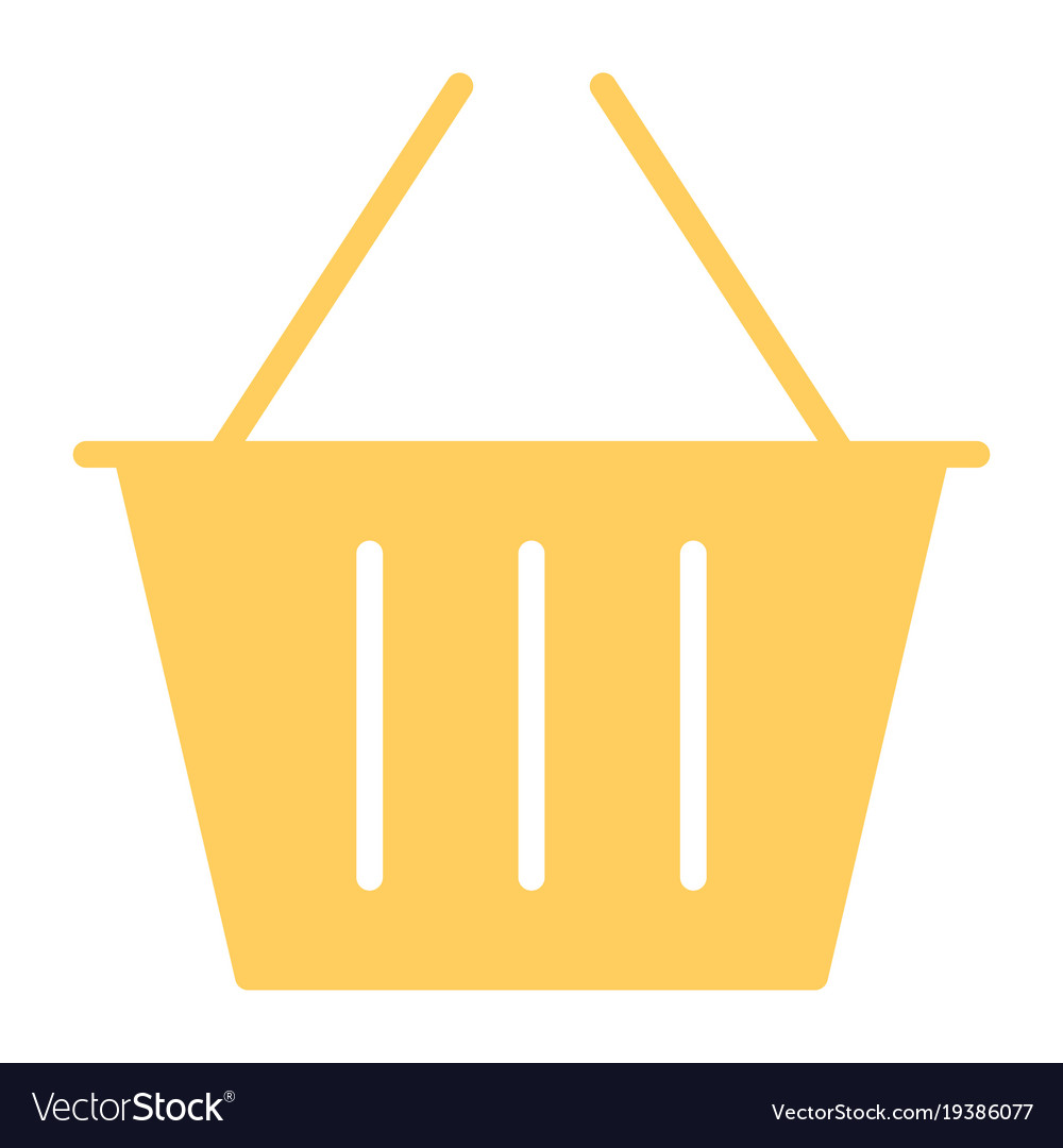 Shopping basket silhouette icon minimal pictogram