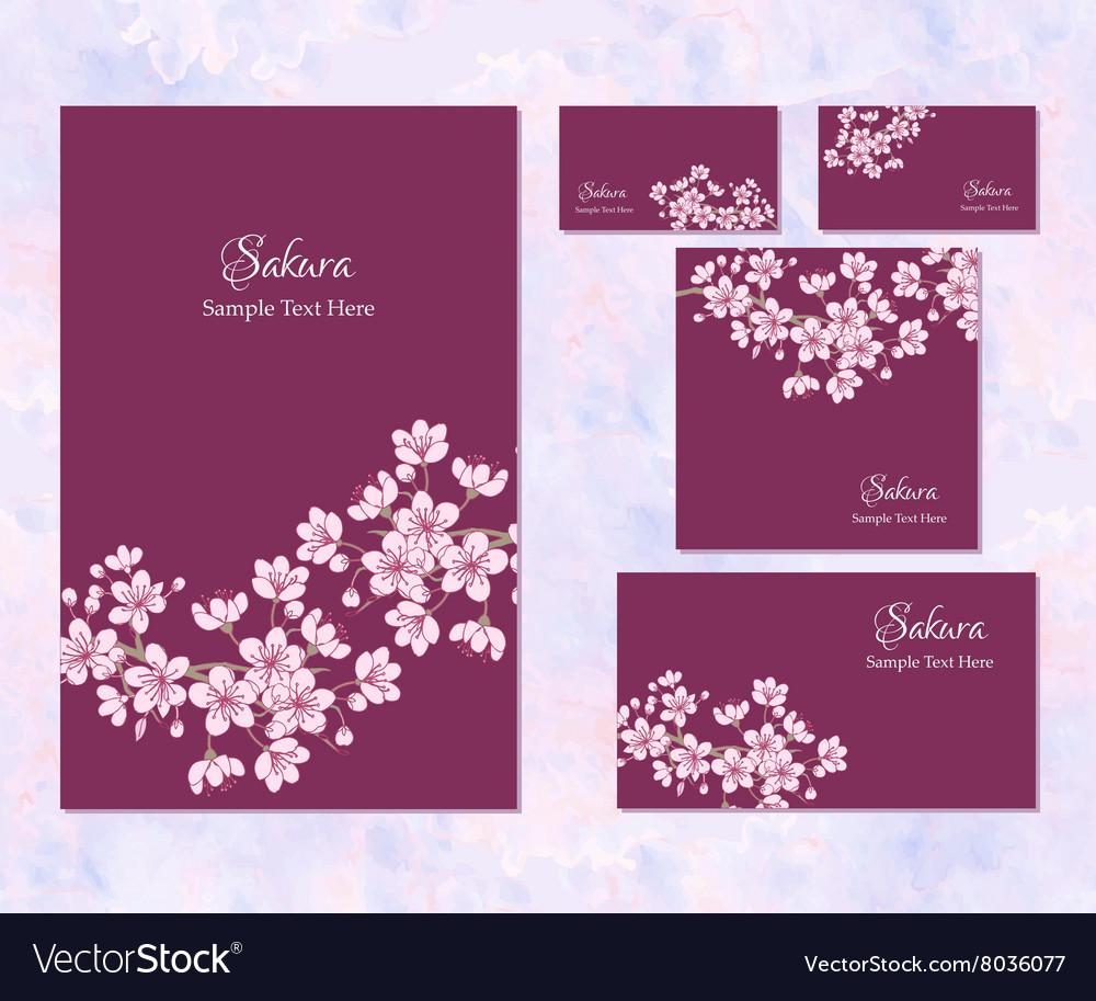 Template corporate identity with sakura
