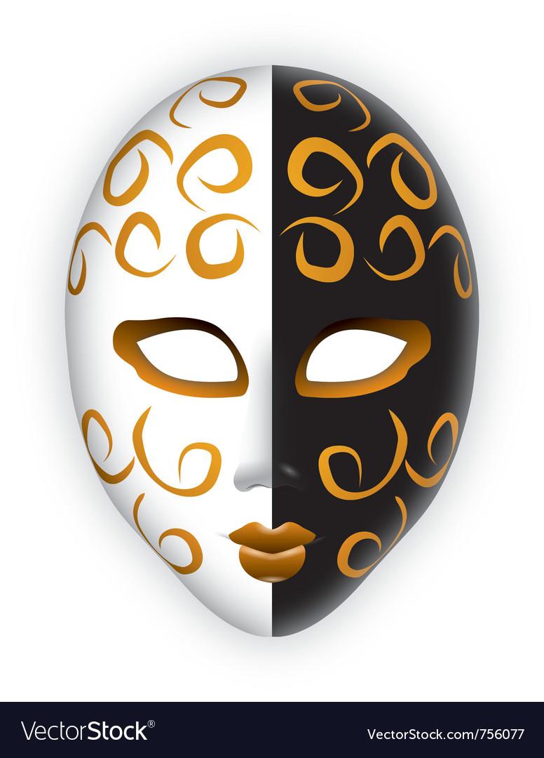 venice mask royalty free vector image vectorstock