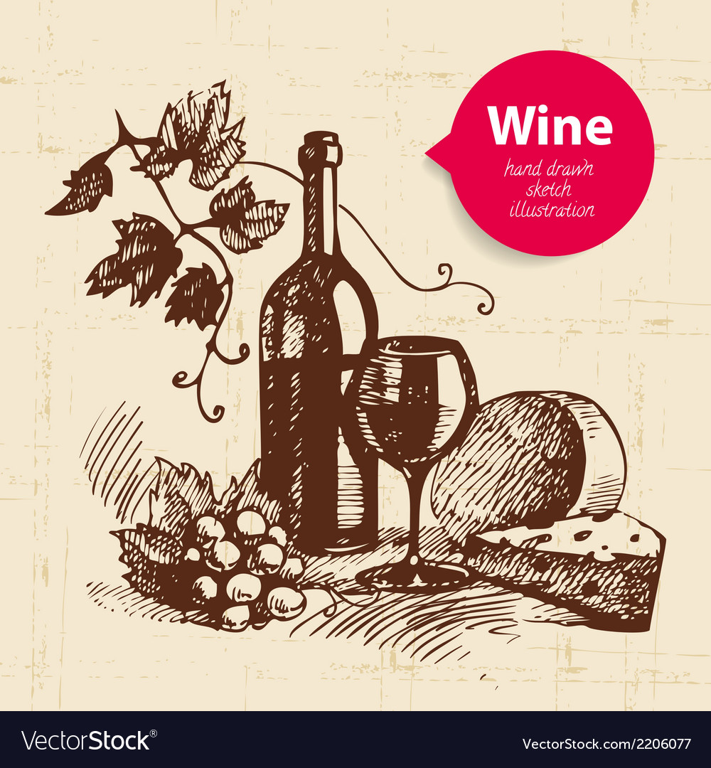 Wine vintage background with banner