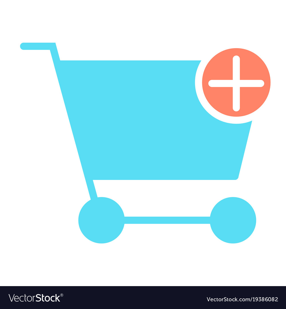Add items to shopping cart icon pictogram
