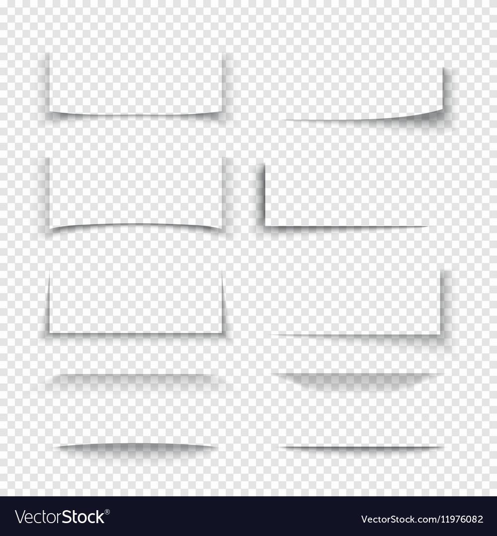 Banner divider website border shadow 3d effects