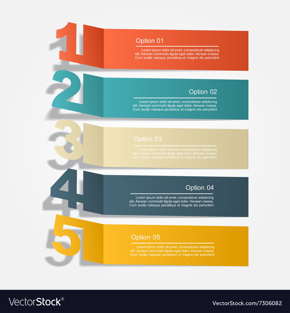 Banner infographic design template