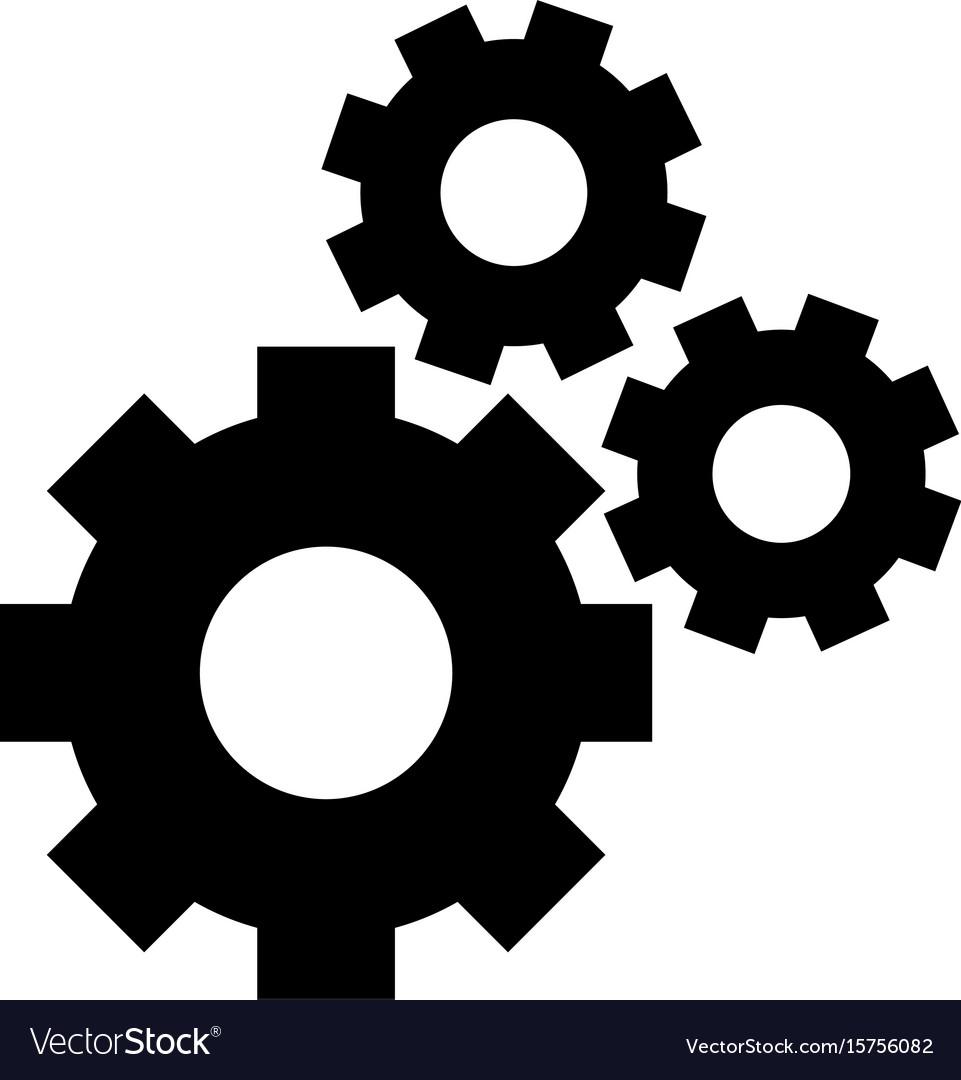 gears icon royalty free vector image vectorstock