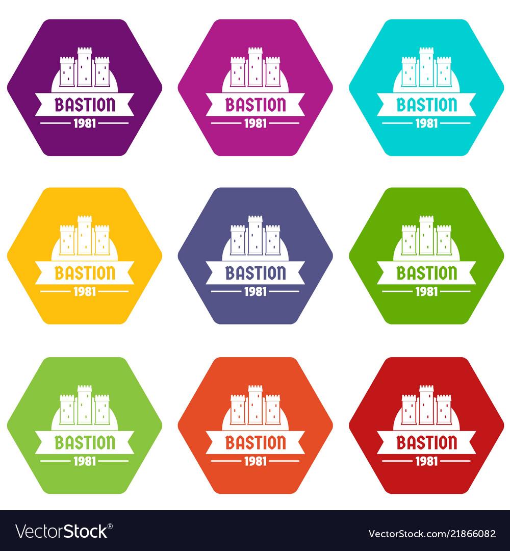 Kingdom bastion icons set 9