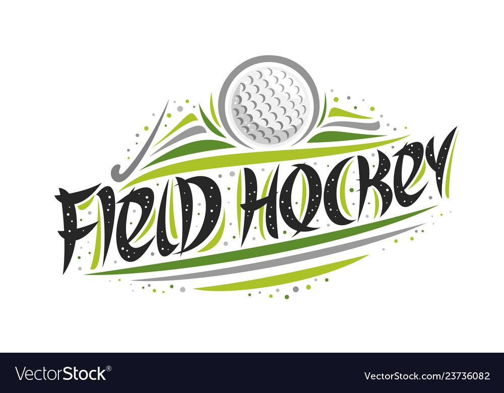 Logo for field hockey