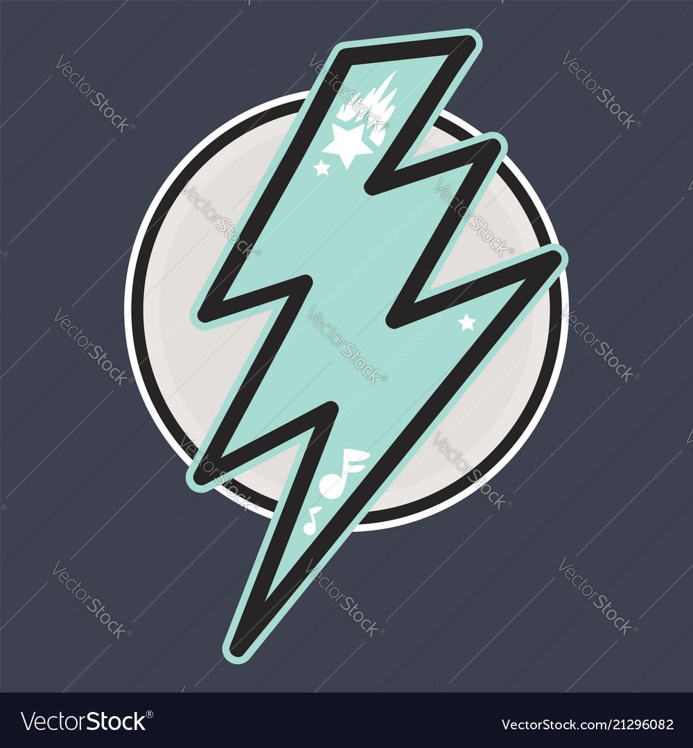 Retro thunderbolt badge