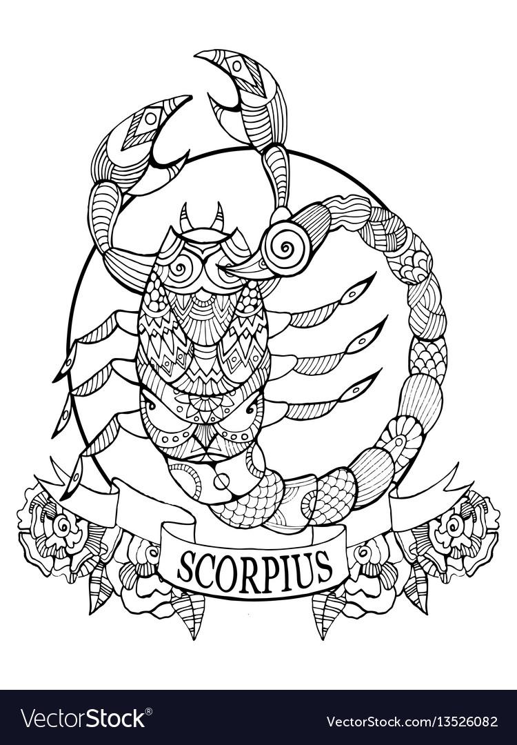 Scorpio zodiac sign coloring book