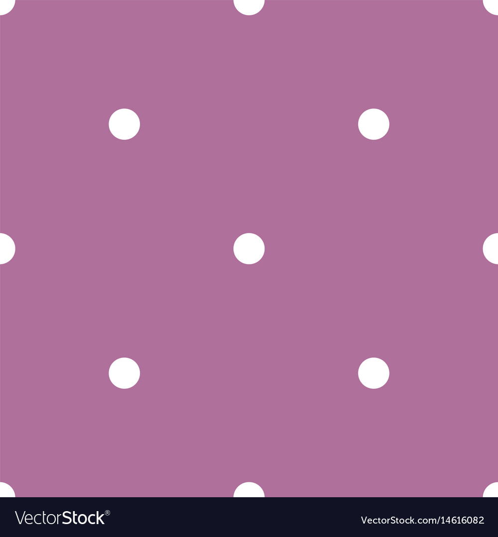 Tile pattern with white polka dots on violet