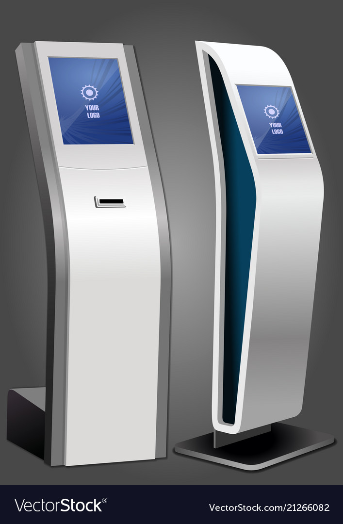 Two promotional interactive information kiosk