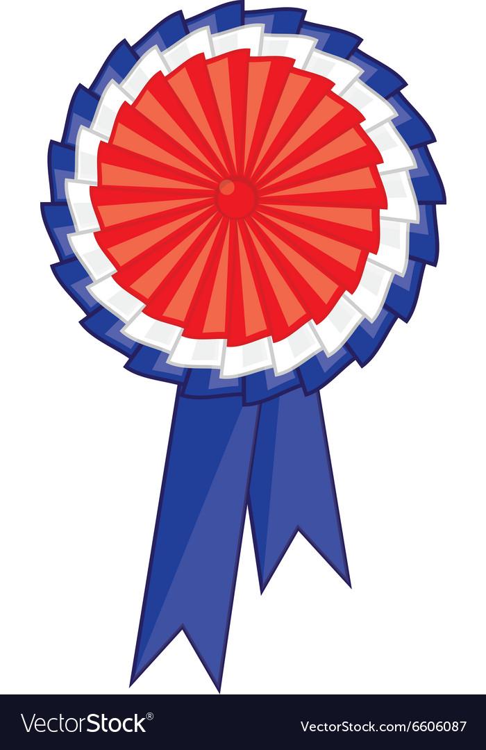 Award ribbon icon vector image