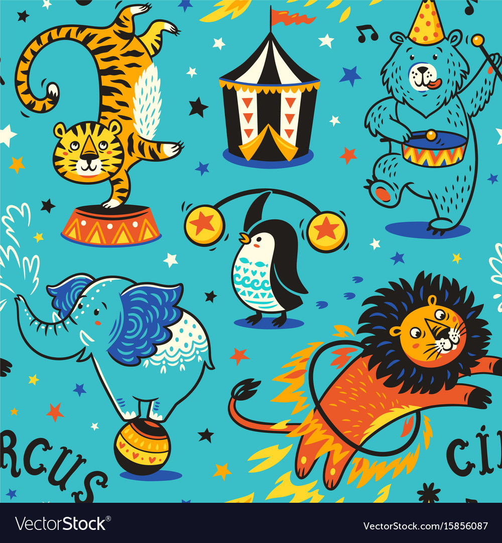 Circus seamless pattern