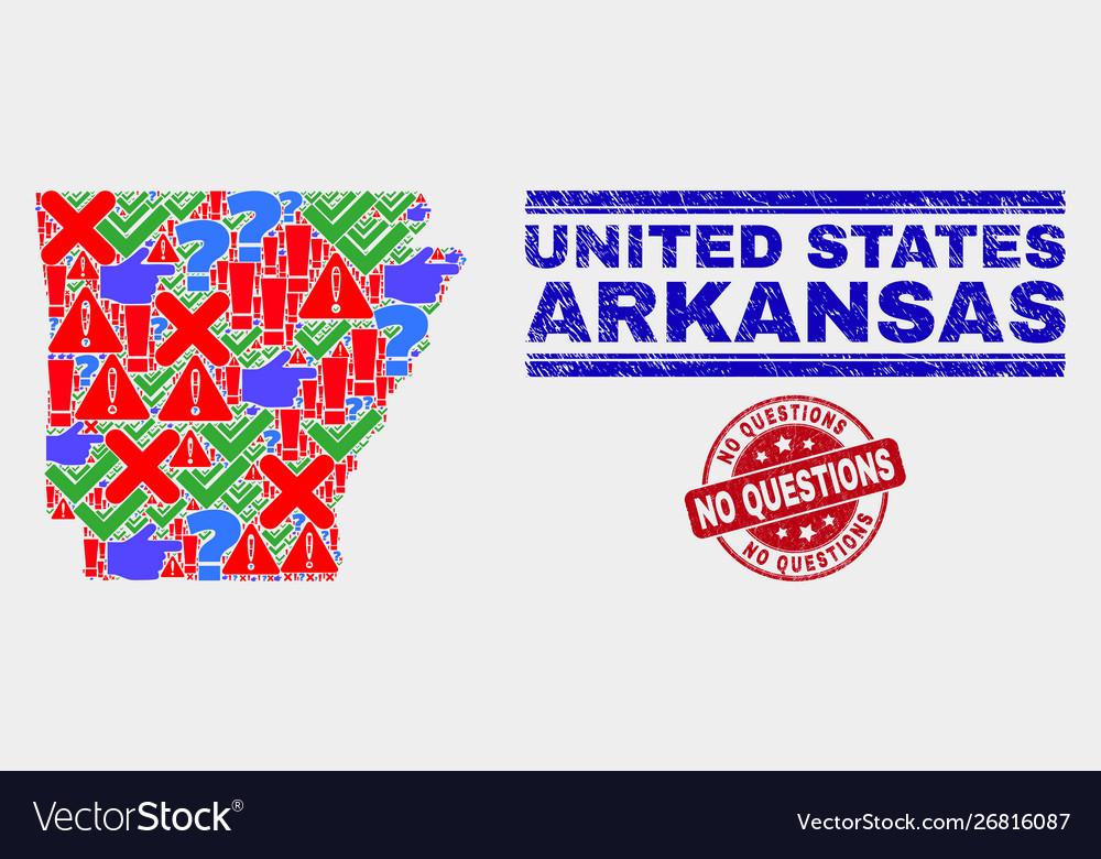 Composition arkansas state map symbol mosaic