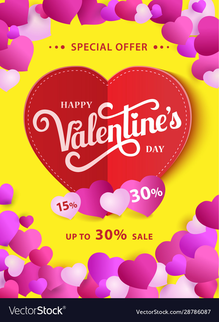 Design flyer happy valentine s day 50 off sale