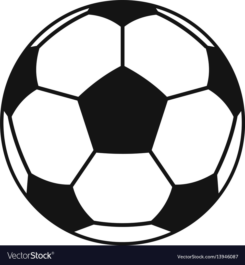 Football or soccer ball icon simple style vector image