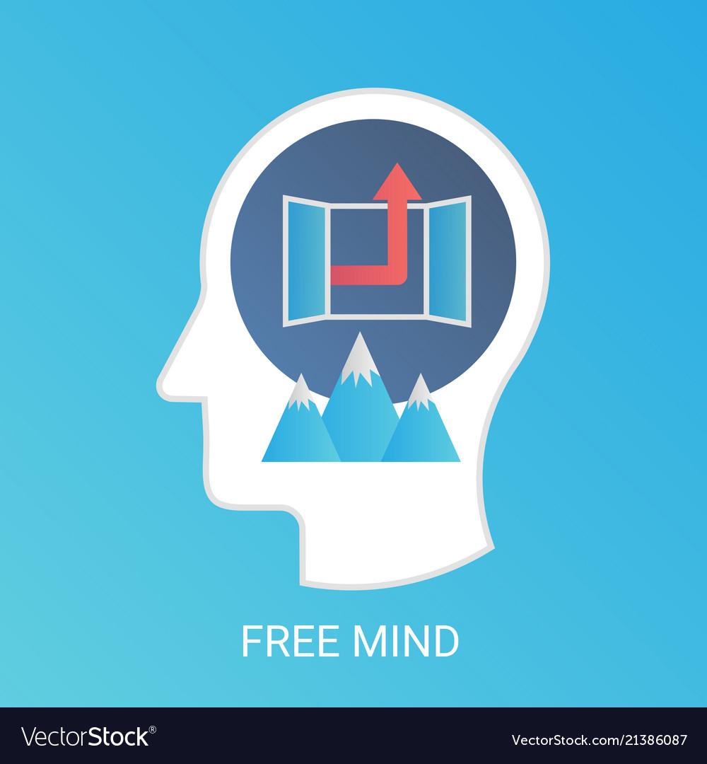 Free mind concept modern gradient flat
