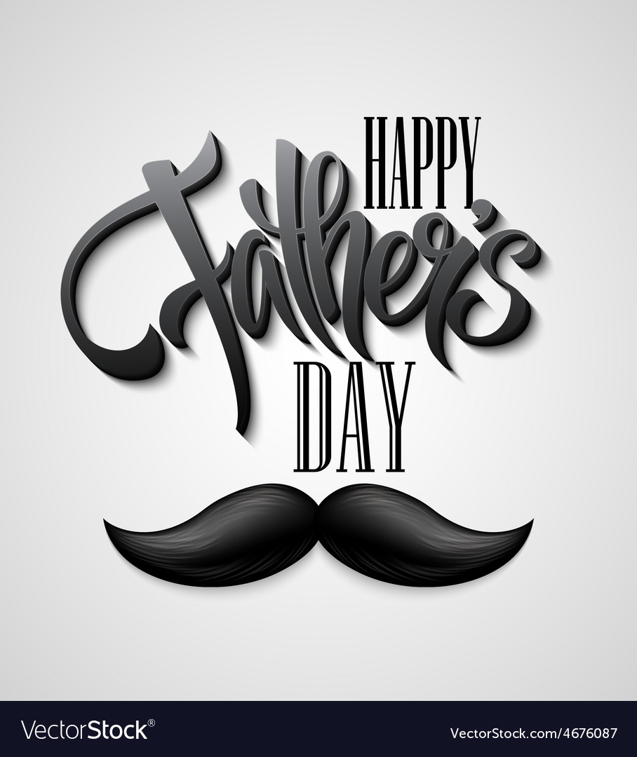 Happy Fathers Day mustache card