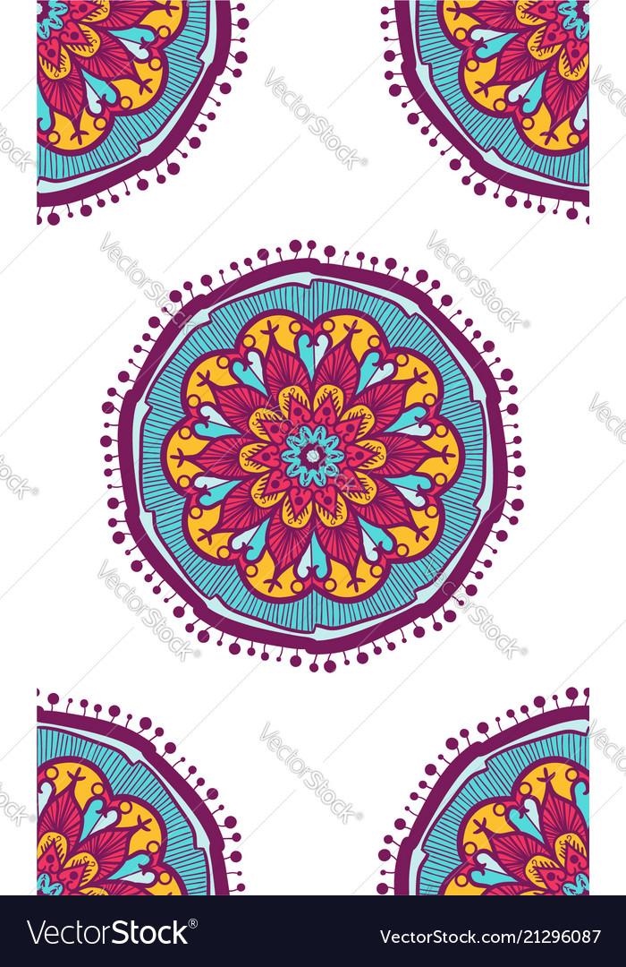 Native seamless pattern from mandala vector image