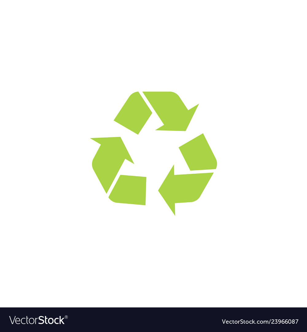 Recycle triangle icon with arrows in a flat style
