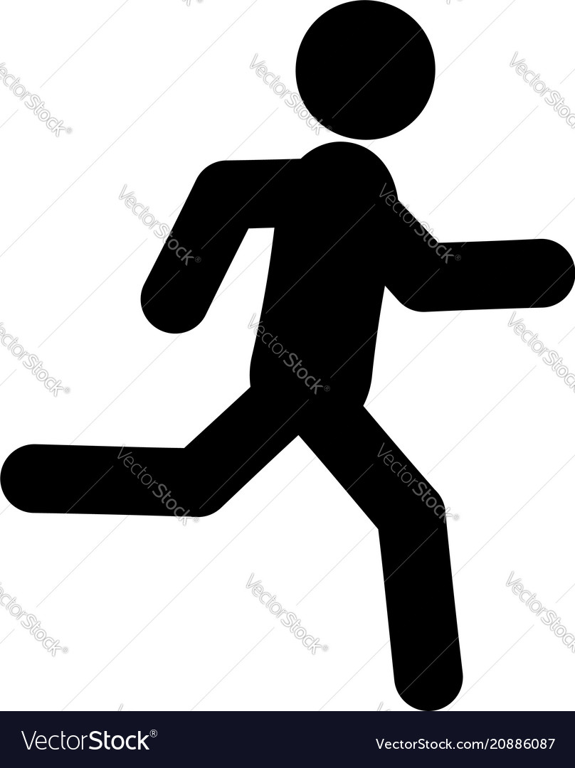 Running glyph icon vector image