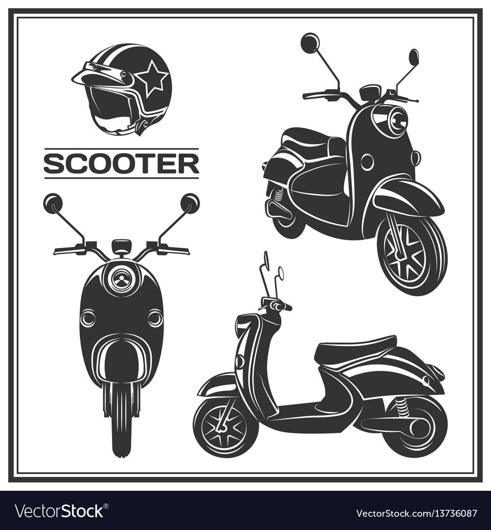 Scooter silhouette set