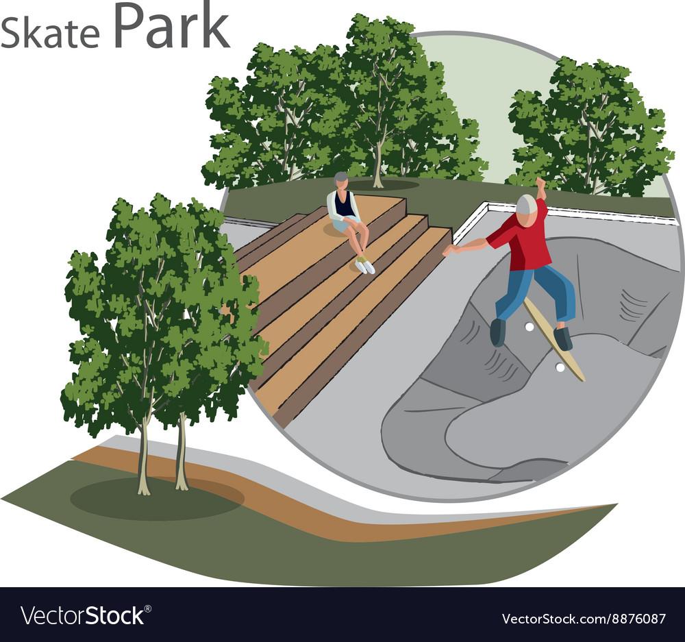 Skate Park sketch vector image
