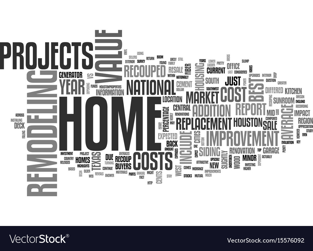 Best home improvement projects revealed text word