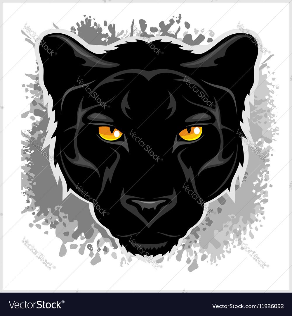 Black Panther head - on grunge background