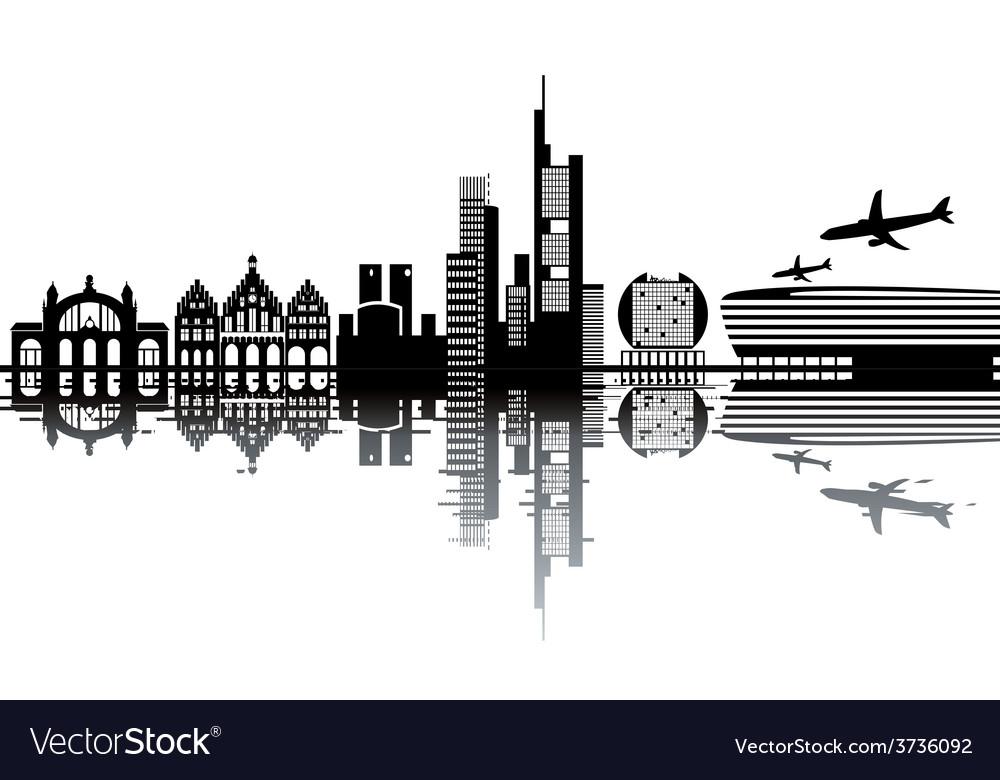 Frankfurt skyline vector image