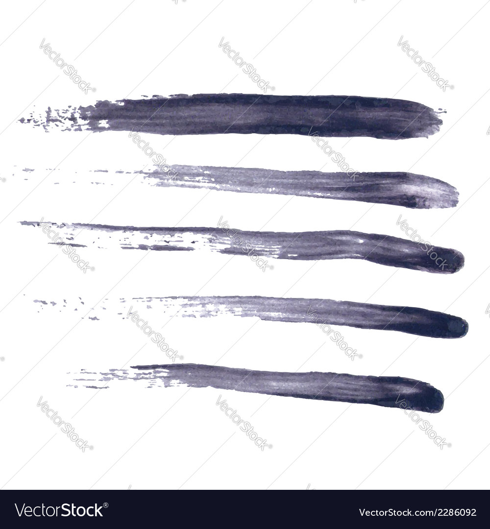 Grungy Abstract Hand-painted Brush Strokes vector image