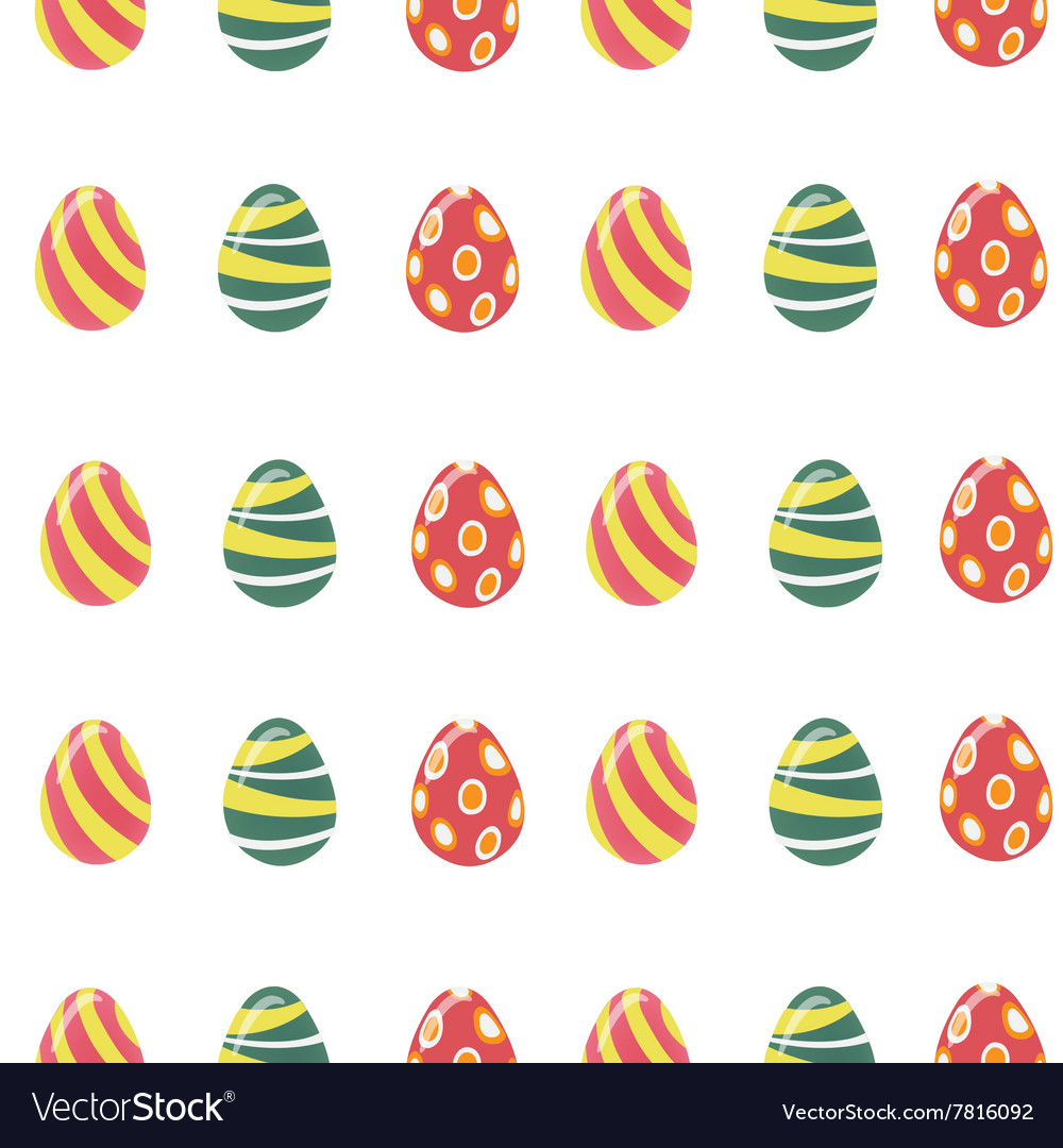 Happy easter seamless pattern with colorful eggs