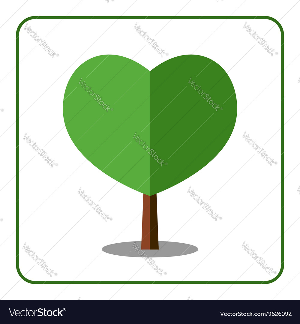 Heart tree icon