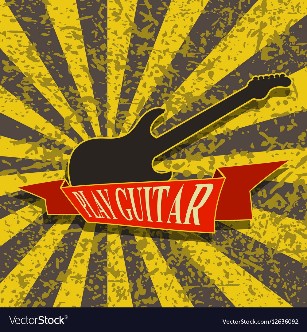 Play Guitar-Background vector image