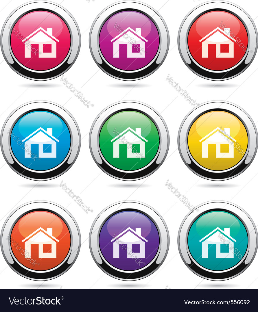 Set of home buttons vector image