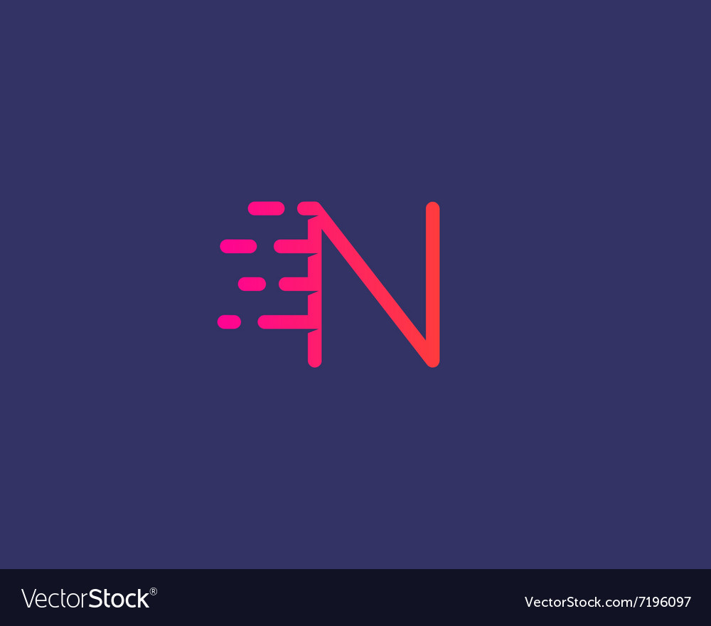 Abstract letter N logo design template Dynamic vector image